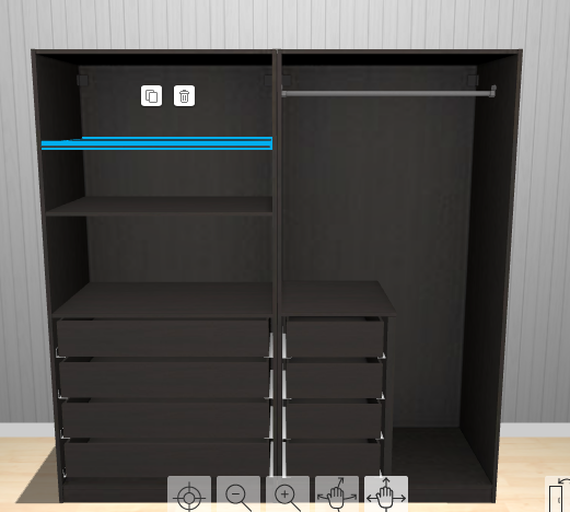 pax kleiderschrank mit schiebet ren. Black Bedroom Furniture Sets. Home Design Ideas